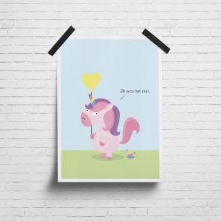 Poster Poepende Eenhoorn