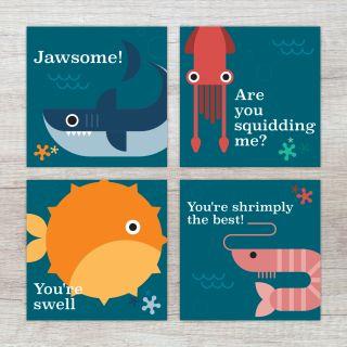 Ansichtkaarten set Zeedieren